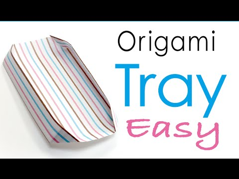 Easy☺︎Origami Paper Plate (Paper Tray) - Origami Kawaii〔#020〕