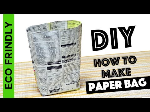 How to make Paper Bag from waste Newspaper / DIY paper bag