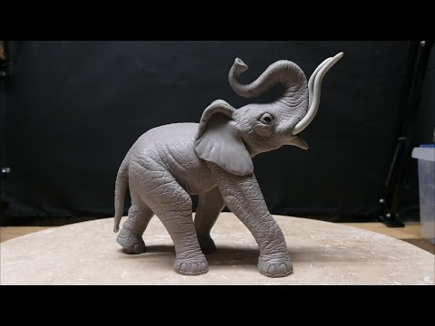 Polymer Clay Texturing (elephant sculpture part 12)