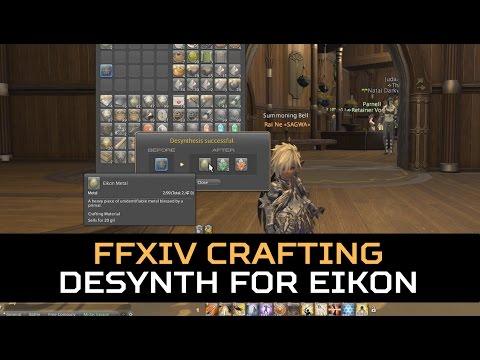 FFXIV: 3.2 - Desynth Prototype Gordian Gear for Eikon Metals