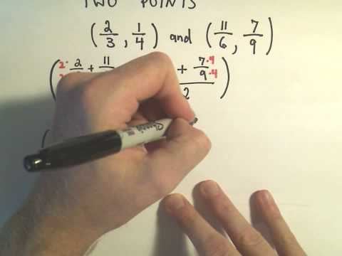 The Midpoint Formula - Finding the Midpoint