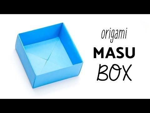 Easy Origami Masu Box Tutorial - Easiest Method ★ Paper Kawaii