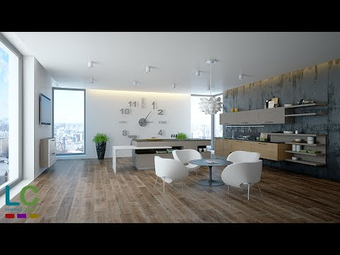 3ds Max Modeling kitchen interior + Vray + Photoshop