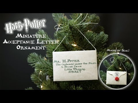 Harry Potter Acceptance Letter Ornament : Magnetic Seal : Christmas Ornament : DIY