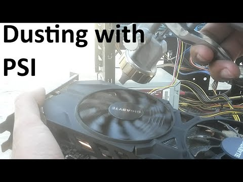 Dusting PC with homemade Compressor