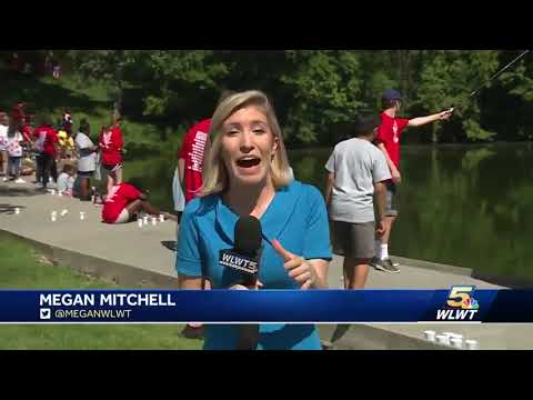 Kids with special needs go fishing in Fairfield
