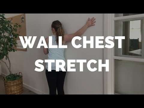 Wall Chest Stretch for Shoulder Relief