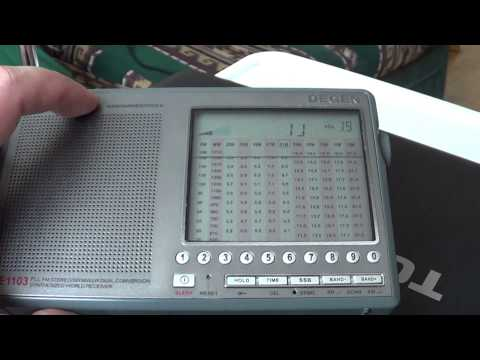 Shortwave radio listening at home improve signal with a simple wire antenna