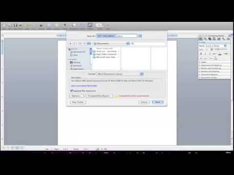 How to save Mac (.docx) on PC Windows (.doc) - Compatibility