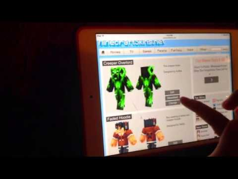 How to get Minecraft Skins for iPad!!
