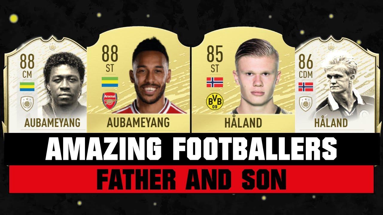 AMAZING FOOTBALLERS FATHER AND SON! 👨👩👦🔥| FT. HAALAND, AUBAMEYANG, ZIDANE... etc