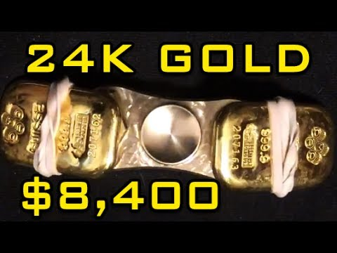 The MOST EXPENSIVE Fidget Spinner In The WORLD 24K PURE GOLD