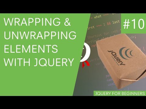 jQuery Tutorial for Beginners #10 - Wrap and Unwrap Elements