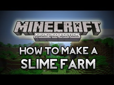 Minecraft: Xbox 360 - How To Make A Slime Farm [XBOX 360] (Getting Slimeballs)