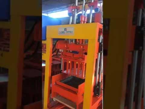 Stationary Concrete Block Making Machine