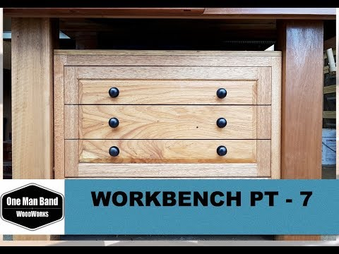 Workbench build Pt 7 - making the drawers