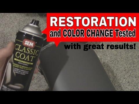 Leather Spray Dye Restoration DIY Test - Using SAAB Headrest