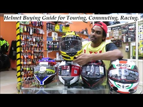Motorcycle Helmet Buying Guide for Touring, Commuting, Racing.