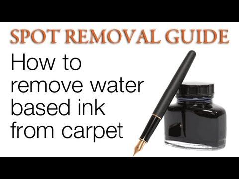 How to get Ink out of carpet - Water Based ink | Spot Removal Guide