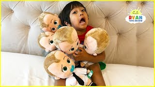 Escape the Babysitters with Ryan and Boss Baby!!!