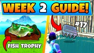 Fortnite WEEK 2 CHALLENGES GUIDE! - Oversized Phone, Fortbyte 17! (Battle Royale Season 9)