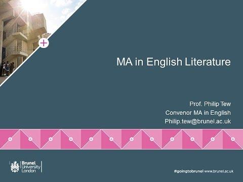 English Literature MA Webinar | Thursday 9 June
