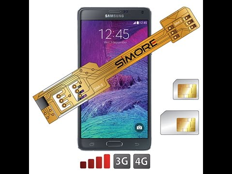 Samsung Galaxy Note 4 - Dual SIM Adapter Android for Samsung Galaxy Note 4 SM-N910F - SIMore