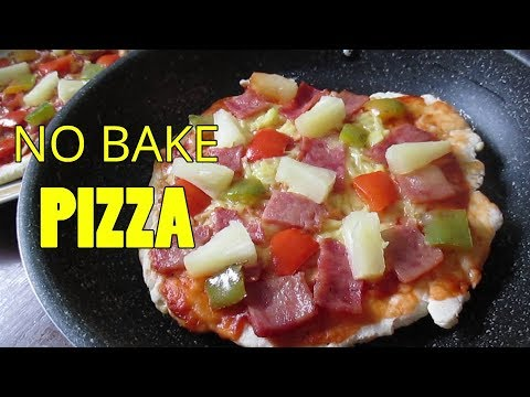 No Bake Pizza | Homemade Pizza without Oven | How to make Hawaiian Pizza