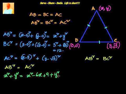 Coordinate Geometry   How to find the third vertex of an equilateral triangle