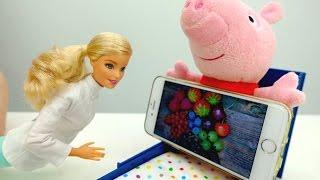 Download Детский канал Плюшики - Доктор Барби лечит Свинку Video
