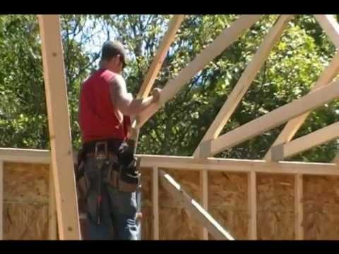 Setting trusses the proper way