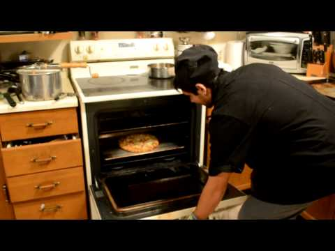 Cooking with Mathew delissio pizza