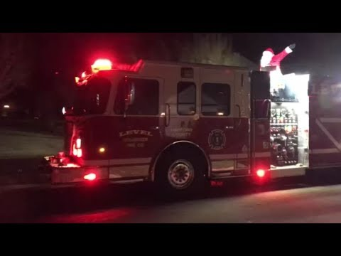 Santa's Coming -  A Christmas Tradition from your local  Fire Department   Churchville, Maryland