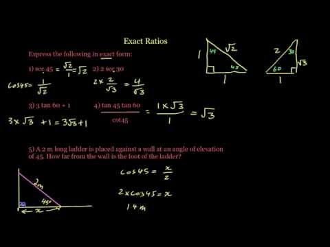 Exact Trigonometric Ratios 2 of 2 - The Questions