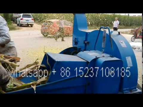 green stalk crusher machine agriculture chaff cutter machine cow fodder making machine