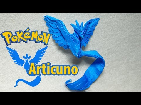 Paper Pokemon - Origami Articuno - フリーザー Team Mystic Tutorial (Henry Phạm)