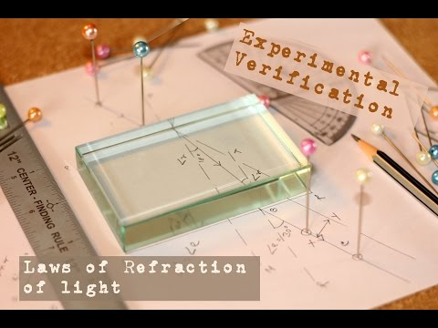 Experimental Verification of Laws of Refraction of light