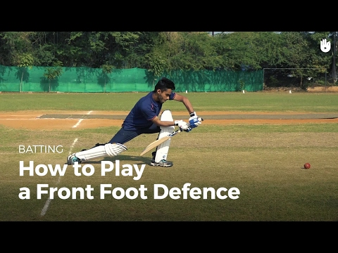 How to Play a Front Foot Defence | Cricket