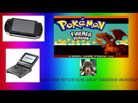 HOW TO HACK YOUR PSP AND GET A GBA EMULATOR