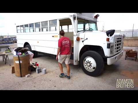 The Hooga Bus Renovation with RECLAIMED pallet wood floor!