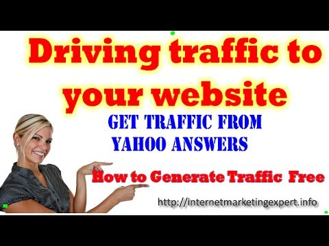 Driving traffic to your website - Get Traffic From Yahoo Answers - How I Answer Questions