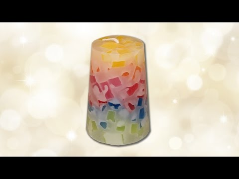 How to make a candle from old candle pieces