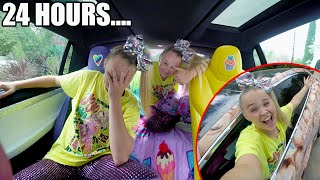 24 HOURS INSIDE MY CAR!! *JoJo Siwa Tesla*