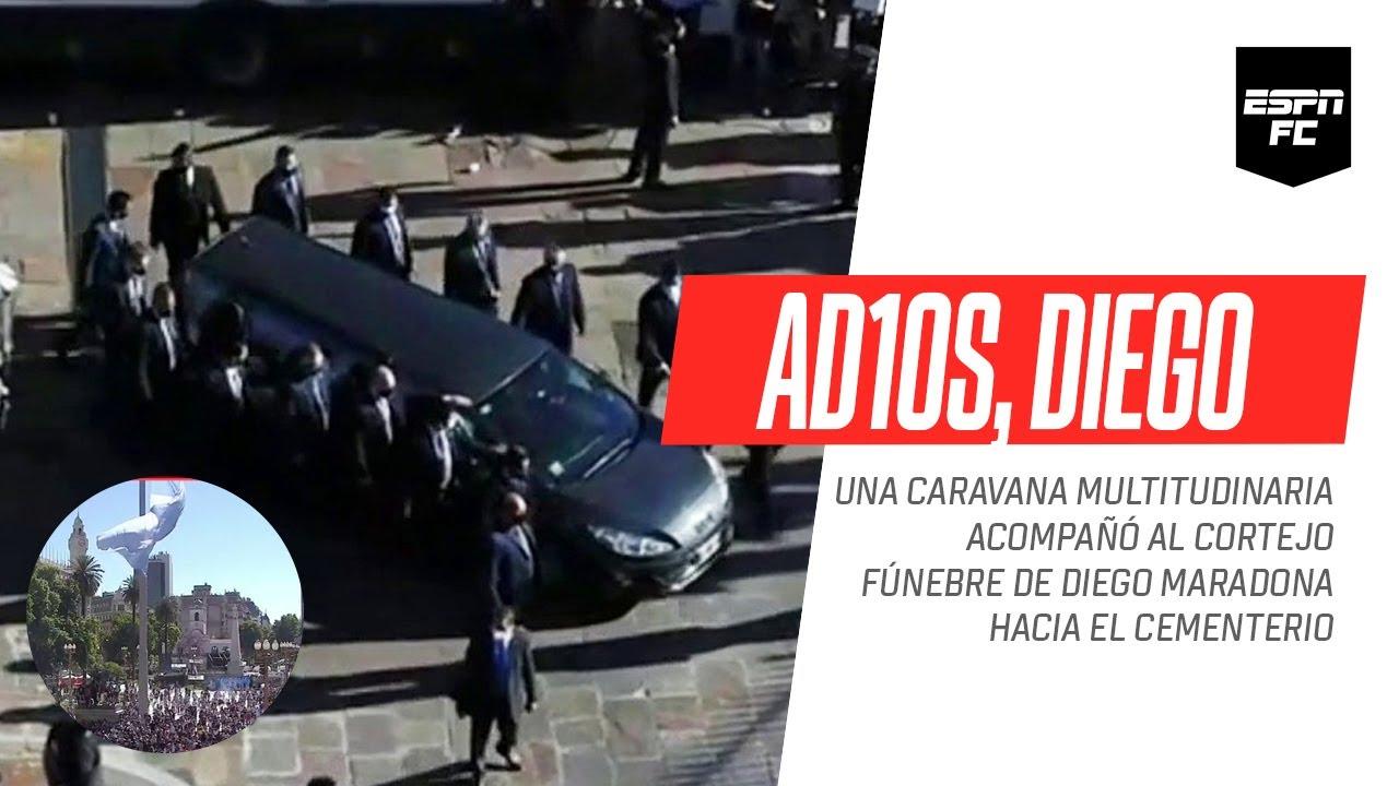 UN #AD10S SIN IGUAL: una multitudinaria caravana acompañó el cortejo de #Maradona al cementerio