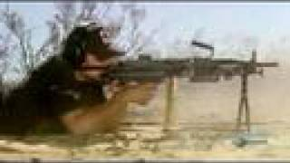 Mythbusters Chopping down a tree with Machine Gun!!! pt 1