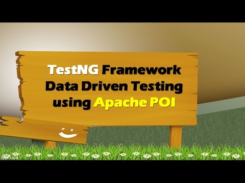 TestNG Framework - Data Driven Testing using Apache POI - Excel