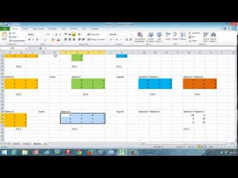 Use Excel To Add Subtract And Multiply Matrices