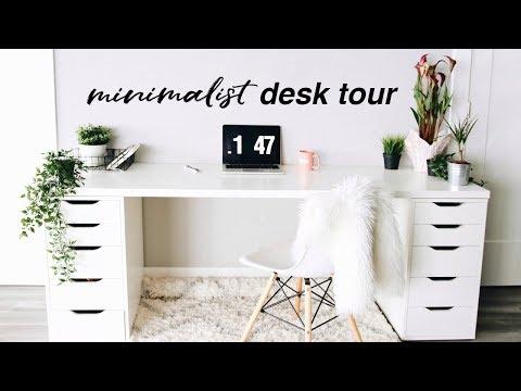 Desk Tour + Workspace Organization | Minimalist