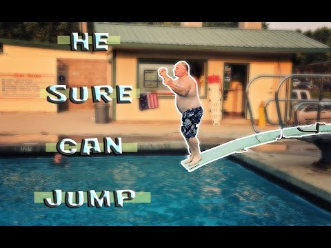 He Almost Broke the Diving Board :O