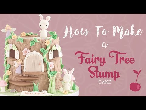 Fairy House Tree Stump Cake Tutorial | How To | Cherry School